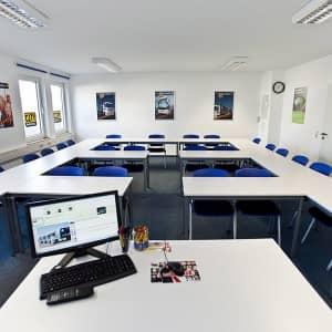 Der Seminarraum der Cityfahrschule
