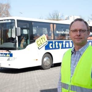 Berufskraftfahrer für Busse in der Cityfahrschule