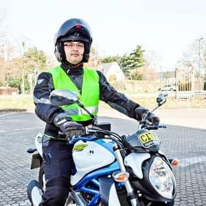 Motorradfahrschüler der Cityfahrschule