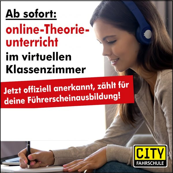 Fahrschülerin Online-Theorie-Unterricht Cityfahrschule