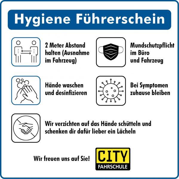 Hygiene Führerschein Banner Cityfahrschule