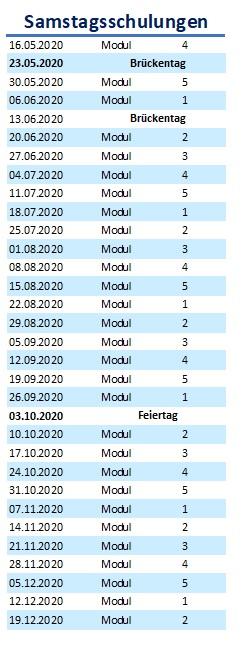 Samstagsschulungen Module 1-5 Bonn Cityfahrschule BKrFQG